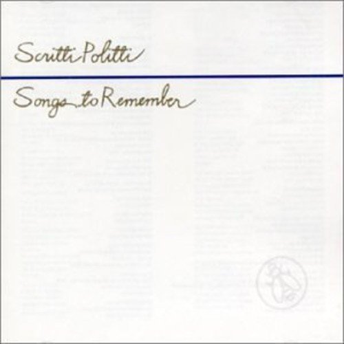 Songs to Remember / Scritti Polittiのジャケット